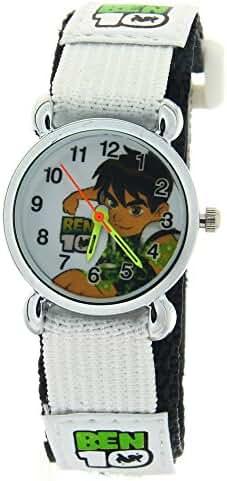 Ben 10 3D Cartoon Children Girls kids Boys Student Quartz Wrist Watch Velcro Strap Black Nylon Band