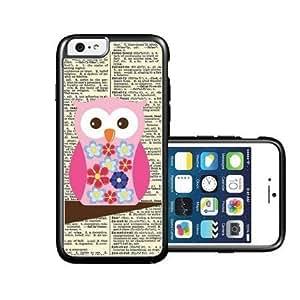 RCGrafix Brand Flower Owl iPhone 6 Case - Fits NEW Apple iPhone 6