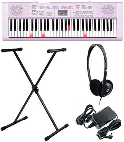 Casio LK de 127 Bombilla teclas Keyboard Juego con Auriculares, soporte y dispositivo de red