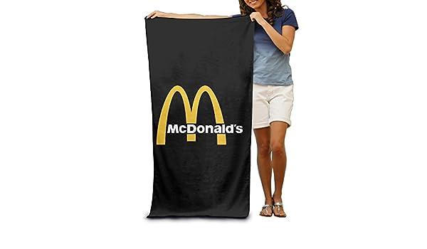 McDonalds fengziya 90s Logo toalla de playa para adultos/31.5 * 51.2