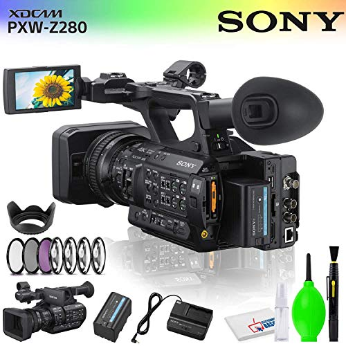 "Price comparison product image Sony PXW-Z280 4K 3-CMOS 1 / 2"" Sensor XDCAM Camcorder Accessory Bundle with Filter and Cleaning Kit"