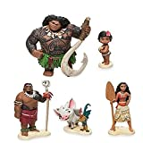 Full Set Moana Action Figures ~Maui,Toddler Moana,Chief Tui, Pua and Hei Hei,Moana Princess ~ Vaiana Toys Doll For Kid Gift
