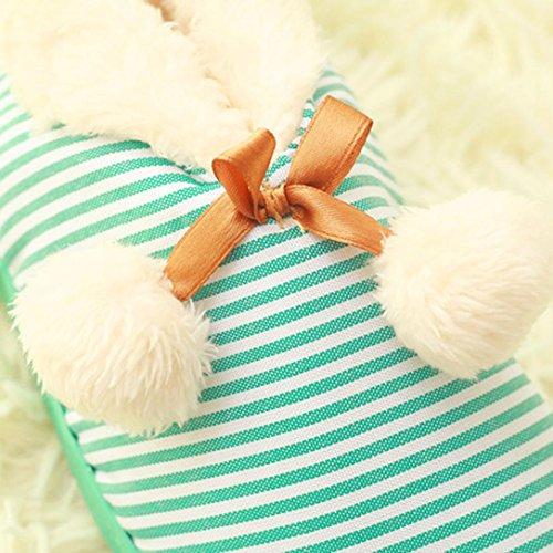 BZLine® Frauen warme Hausschuhe Indoor Startseite Slipper Hüttenschuhe Pantoffel Grün