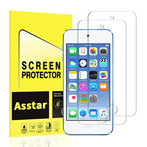[ 2 Pack ] Asstar [Tempered Glass] Screen Protector for iPod Touch 6G (6th Generation) / 5G (5th Generation), 9H Hardness 2.5D Tempered Glass Bubble-Free Screen Protectors with Lifetime (2 PACK)