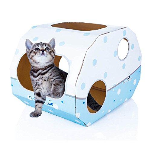 round mesh cat litter box (Blue) - 9