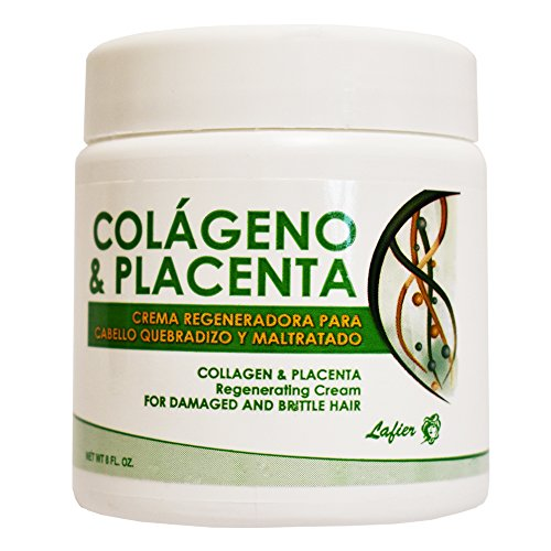 Price comparison product image Lafier Colageno & Placenta Regenerating Cream for Damaged and Brittle Hair 8 Oz [SEALED]