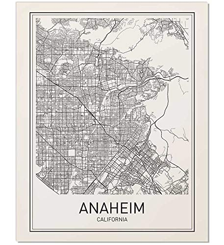 Anaheim Poster, Map of Anaheim, Anaheim Map, City Map Posters, Modern Map Art, City Prints, California Art, Minimal Print, California Wall Art, City Poster, City Map Wall Art, Minimalist Posters, 8x10]()