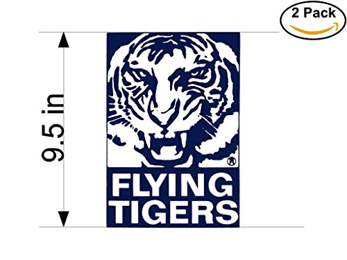 Flying Tigers Airlines Airplane Sticker Decal 2 Stickers Huge 9.5 ()
