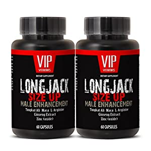 Natural male enchantment pills increase size and length - LONGJACK SIZE UP (MALE ENHANCEMENT FORMULA) - Tongkat ali long jack 120 capsules - 2 Bottles 120 Capsules natural male enchantment - 51x316Yd2uL - natural male enchantment