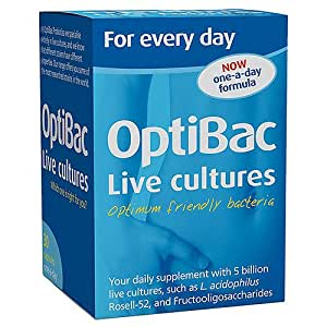 Optibac Probiotics for Daily Wellbeing - Pack of 60 Capsules