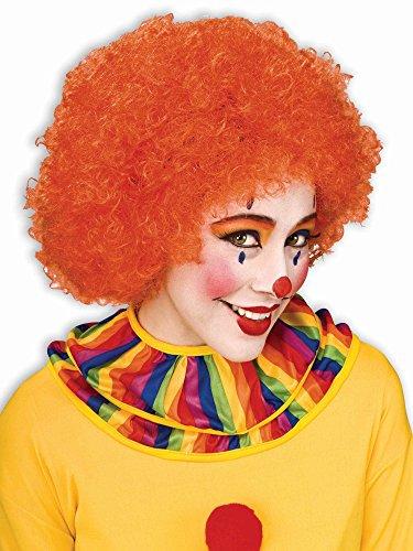 Forum Novelties Unisex Afro/Clown Wig,  Orange, One Size ()