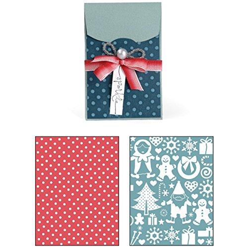 Sizzix Bigz XL with Bonus Textured Impressions Embossing Folders - Gift Card Holder and Snow Village Set by Sizzix
