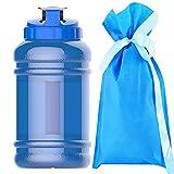 High-Capacity New Wave Jug Resin Sports Water Bottles(2.2 Liter)(deep blue)…
