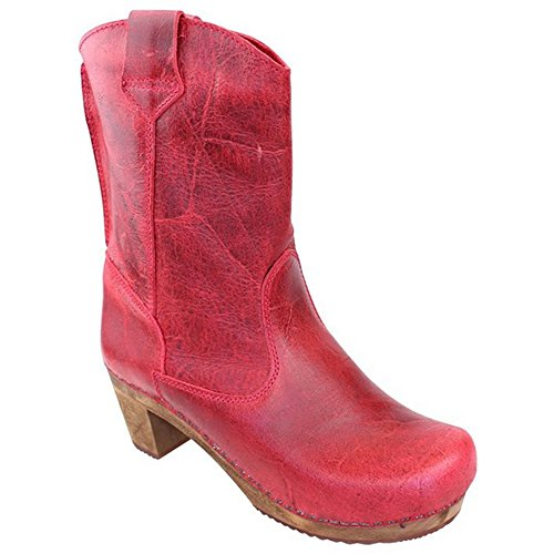 Clog Red Red 'Laureen' Boots Vintage 458323 Sanita in Dark Art wcSqac6C