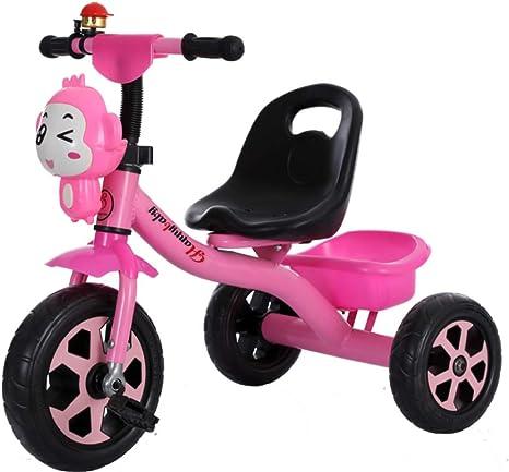 Bicicleta de Triciclo para niños 2-5 años Ligero Cochecito de bebé Chicos y Chicas Música en Bicicleta (Color : Pink): Amazon.es: Deportes y aire libre