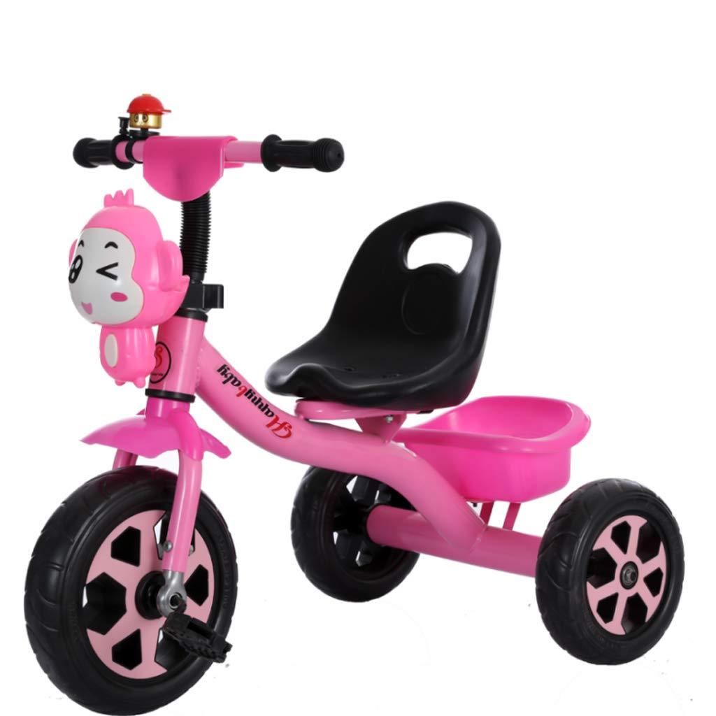 子供用 自転車 自転車 2~5歳 軽量 ベビーカー 男の子 女の子 音楽バイク  ピンク B07K9P212L