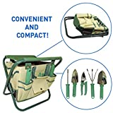 buy 7 Piece Garden Seat Tool Set. Kit Includes 5 Tools: Pruner, Hand Shovel, Cultivator (Hand Rake or Hoe), Trowel, and Weeding Fork. Folding Stool Seat and Detachable Storage Tote Bag now, new 2018-2017 bestseller, review and Photo, best price $19.98