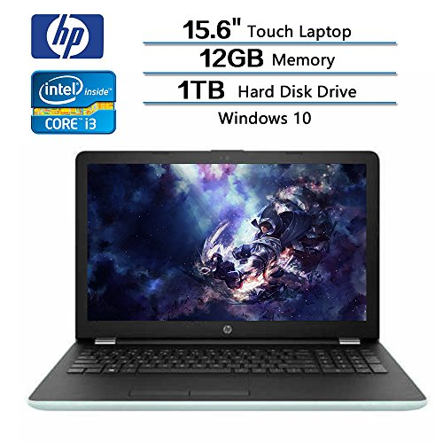 "HP Flagship 15.6"" WLED-backlit touch screen (1366×768) Laptop, Intel Core i3-7100U 2.4GHz, 12 GB DDR4-2133 SDRAM, 1TB 5400 rpm SATA, Integrated Intel HD Graphics 620, Win 10 (Certified Refurbished)"