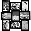 Malden International Designs Home Profiles Puzzle Collage Picture Frame, 9 Option, 9-4x6, Black