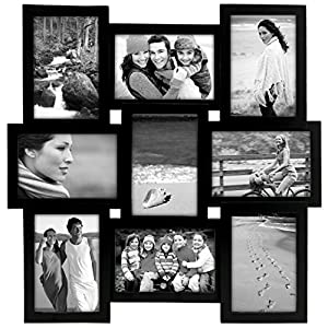 malden international designs home profiles puzzle collage picture frame 9 option 9 4x6 black