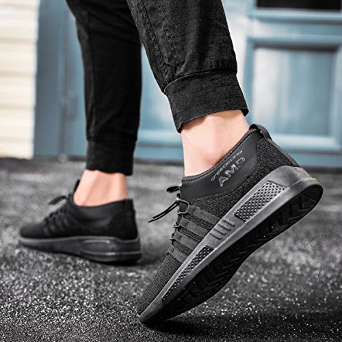 Ultra Street Mesh for Soft Walking Sneakers Women Casual Running Sport Shoes Breathable Men's Black Lightweight qEgqX