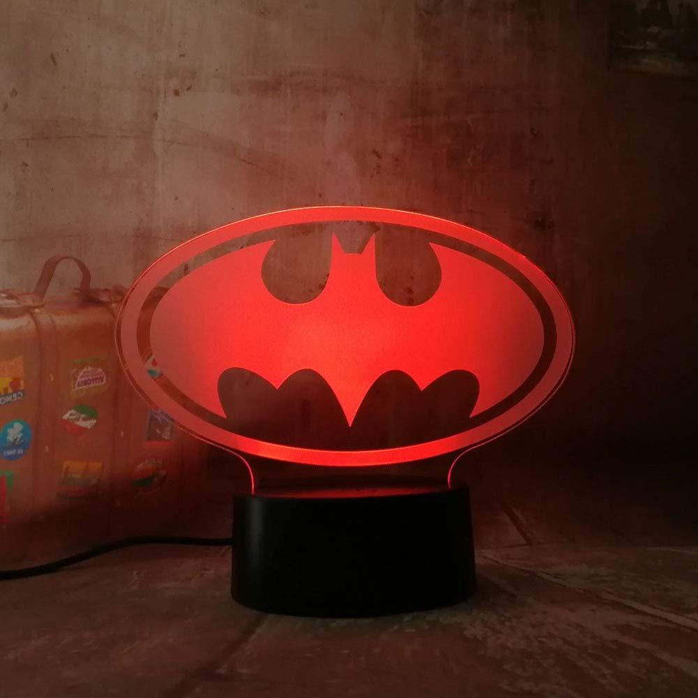 DC Movie Cartoon Figur Batman Nachtlicht 3D LED 7 Farbwechsel Batterie Power Tisch Lampe Kinder Nachttisch Party Schlafzimmer Bar Mall Decor Lava Kinder Spielzeug Geschenk Batman Head