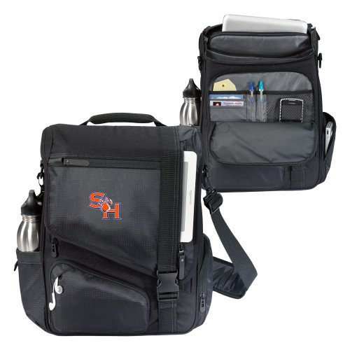 SHSU Momentum Black Computer Messenger Bag 'SH Paw Official Logo' by CollegeFanGear