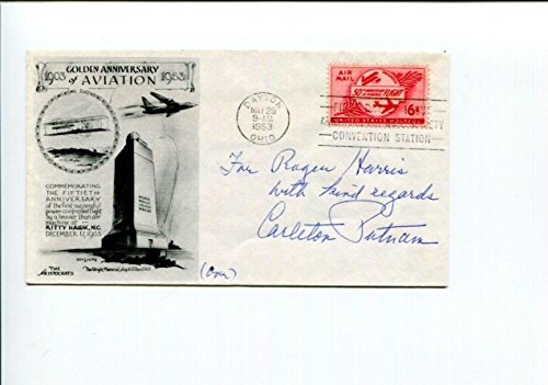 Carleton Putnam Chicago and Southern Delta Air Lines CEO Signed Autograph FDC - NFL Cut Signatures