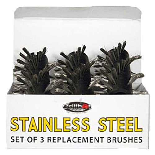 Grillbot GBS202 Replacement Brushes for Grill, Stainless Steel