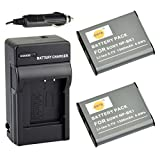 DSTE 2x NP-BK1 Battery + DC16 Travel and Car Charger Adapter for Sony Bloggie MHS-CM5 MHS-PM5 Webbie MHS-PM1 DSC-S750 S780 S850 950 980 W180 W190 W370 Camera