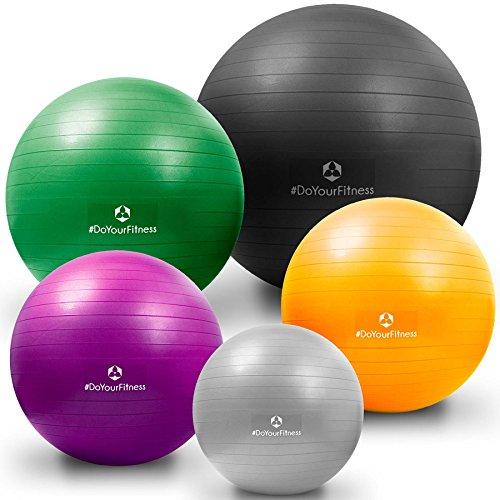 Gymnastikball »Orion« / Robuster Sitzball und Fitnessball von 55cm 65cm 75cm & 85cm inklusive Ballpumpe! / 65 cm / schwarz