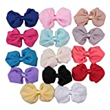 Surker Fashion Cute Chiffon Bowknot Baby Girls Clip Headbands Hair Accessories,4,14pcs/Pack,Assorted Colors HB00121MX(14) by Surker