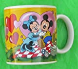 Mickey And Minnie Mouse Having A Picnic Coffee Cup In Colorful Box