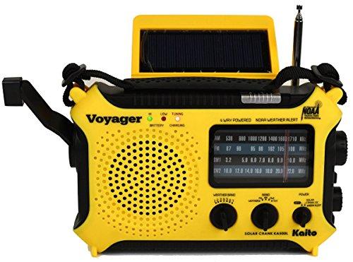 Kaito KA500L 4-Way Powered Emergency AM/FM/SW NOAA Weather Alert Radio with Solar,Dynamo Crank,Flashlight by Kaito