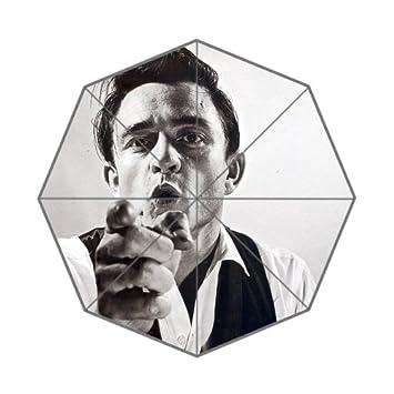 Johnny Cash dedo paraguas único plegable paraguas personalizados