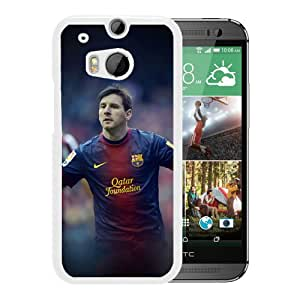 New Custom Designed Cover Case For HTC ONE M8 With He Messi Fc Barcelona Soccer Sports (2) Phone Case