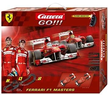 Carrera - GO 143: Ferrari F1 Masters (Ferrari Alonso y Massa) 5.4 metros, escala 1:43 (20062280): Carrera: Amazon.es: Juguetes y juegos