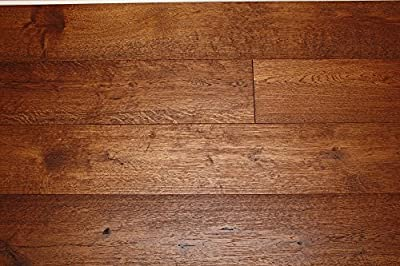 "Elk Mountain White Oak Appalachian Trail 1/2 x 7-1/2"" Wire Brushed Engineered Hardwood Flooring FH305 SAMPLE"
