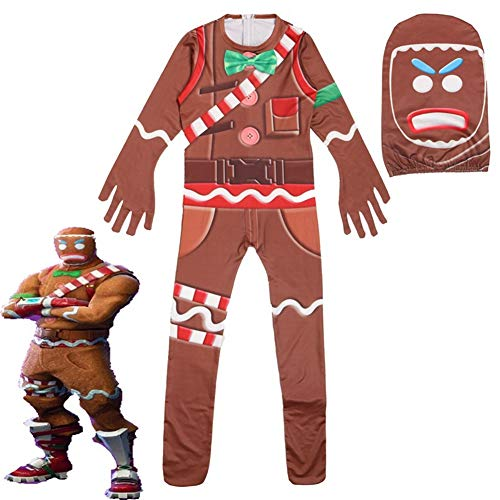 Kids' Cosplay Costume Gingerbread with Mask Kids