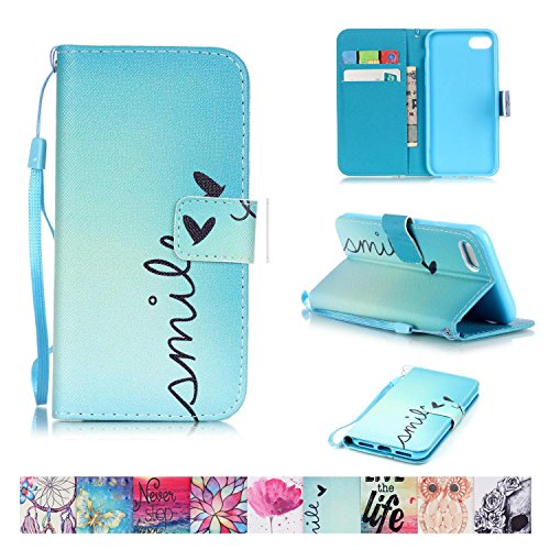 iPhone 7 Case, Firefish Kickstand Flip [Card Slots] Wallet Cover Double Layer Bumper Shell with Magnetic Closure Strap Protective Case for Apple iPhone 7
