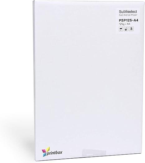 Papel de sublimación, 125 g, para impresora de inyección de tinta ...