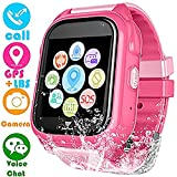 Kids Smart Watch for Girls Boys - IP67 Waterproof Children Smartwatch with GPS/LBS