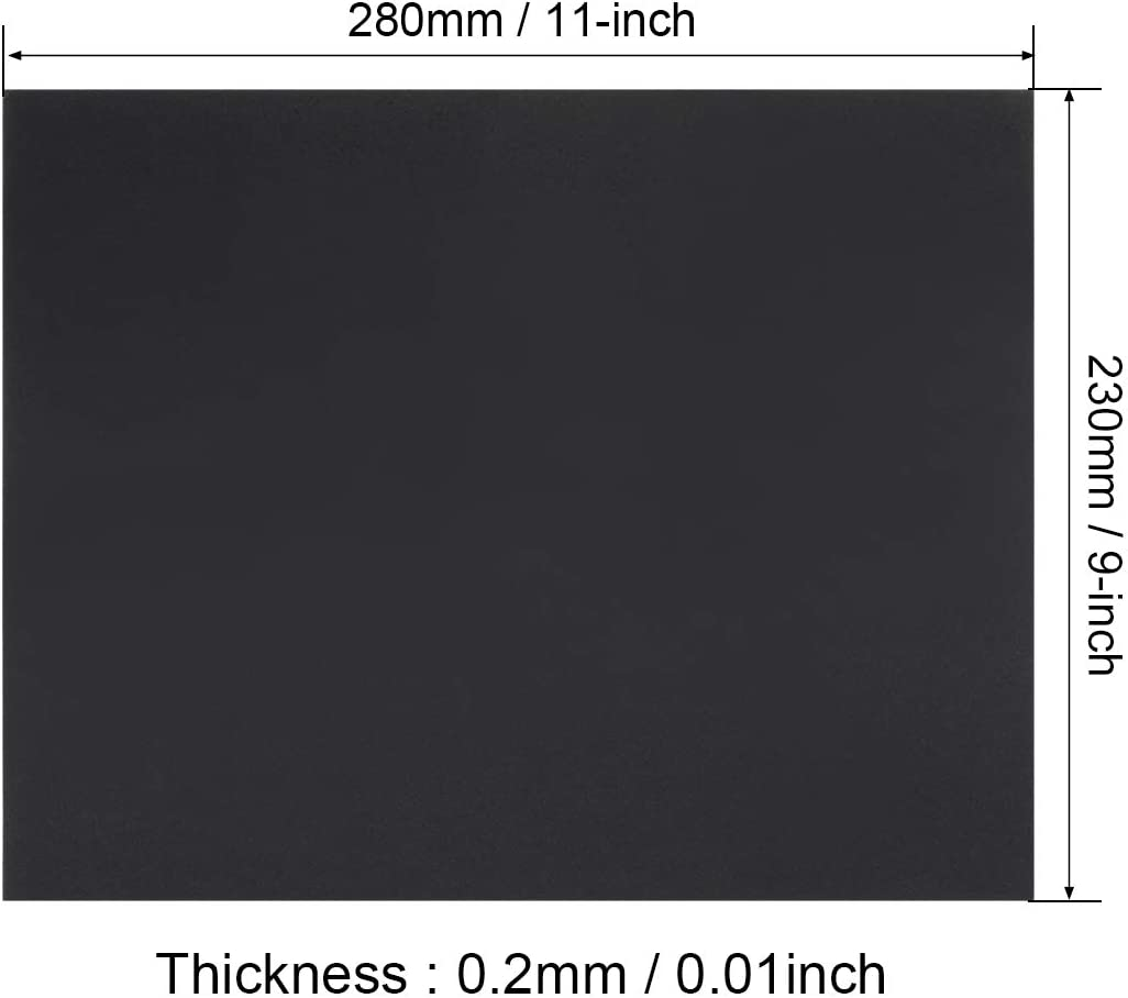 uxcell 800 Grits 9-inch X 11-inch Sanding Sheets Wet Dry Waterproof Silicon Carbide Sandpaper for Wood Metal Automotive 5pcs