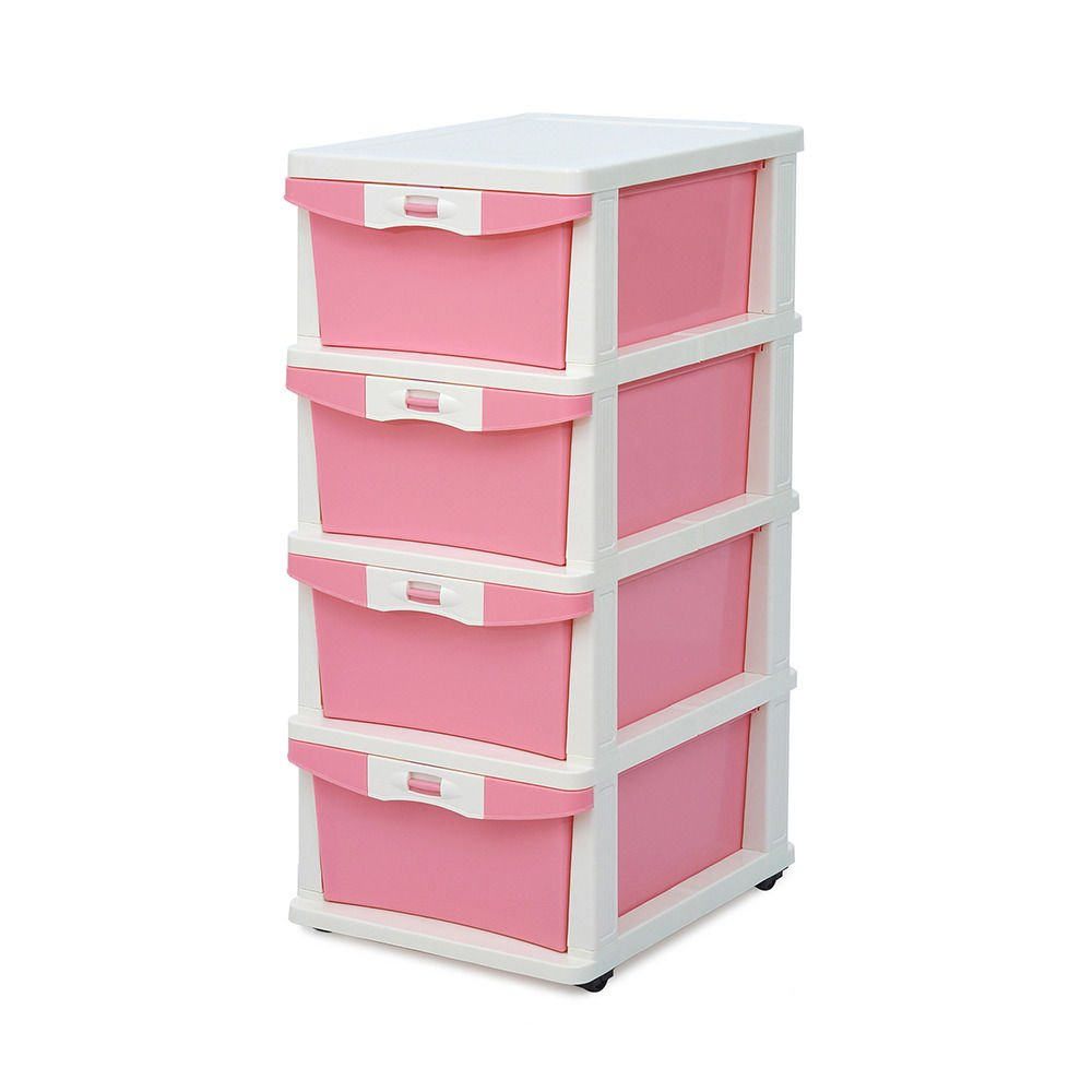 drawers retro chest princess uk dp baskets amazon kitchen wicker pink co unit storage of delights home bedroom girls