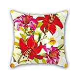 artistdecor 20 X 20 Inches / 50 by 50 cm Flower Pillowcover Double