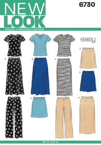 New Look Sewing Pattern 6730 Misses Separates, Size A (S-M-L-XL)