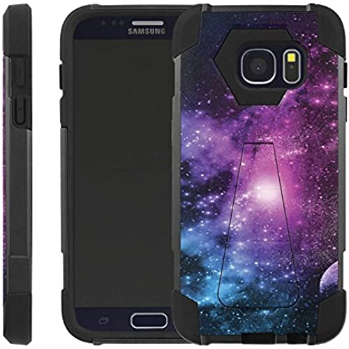 Purple Galaxy [Advance] Rugged [Duel Layer] Hybrid Hard Soft rubber Protective Case [Heavy Duty] Cover drops and impacts for Galaxy S7 S 7 Sales