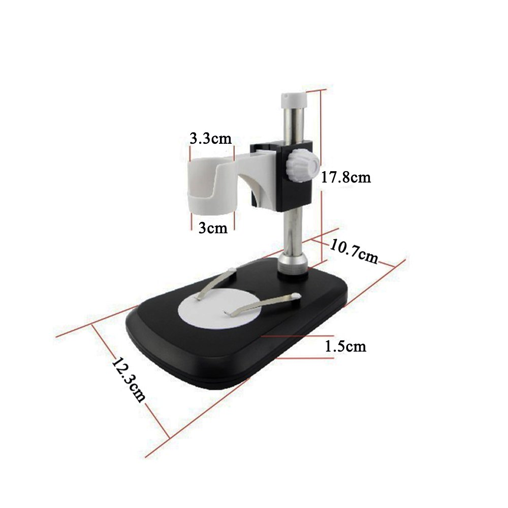 Jiusion Universal Adjustable Professional Base Stand Holder Desktop Support Bracket for 1.18 to 1.3 in Diameter USB Digital Microscope Endoscope Magnifier Loupe Camera