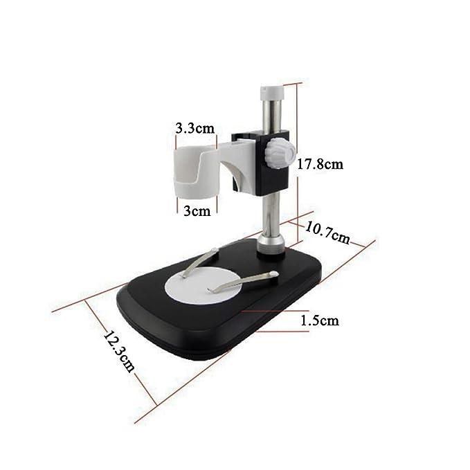 ABS Kunststoff Jiusion Universal einstellbare professionelle Basis St/änder Halter Desktop Unterst/ützung Halterung f/ür 3cm bis 3,3cm in Durchmesser USB Digital Mikroskop Endoskop Lupe Lupe Kamera