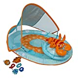 SwimWays Baby Spring Float Activity Center with Canopy eZarqK, 4Pack (Lobster)